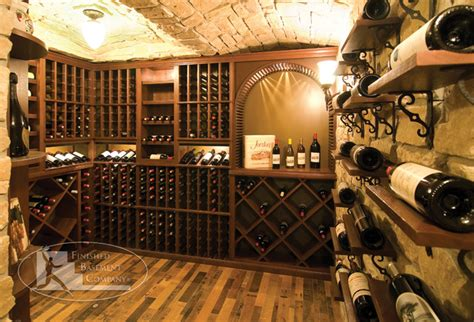 basement wine racks traditional wine cellar