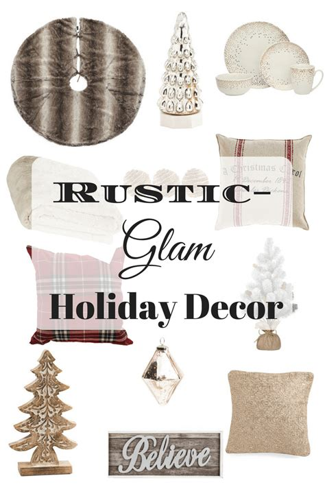 rustic glam christmas decor at target embellish ology rustic glam holiday decorations timeless creations llc