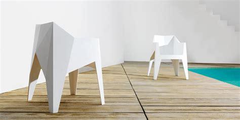 voxel minimal mono block polycarbonate stackable chair  vondom