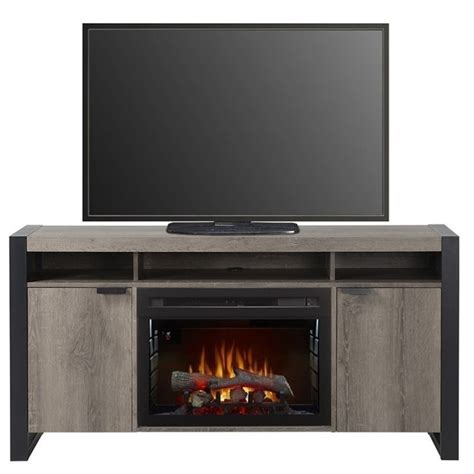 dimplex electric fireplace tv stand with logset in