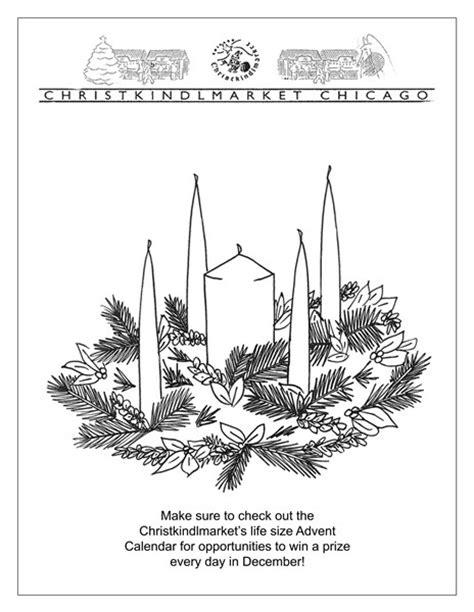 coloring advent wreath new calendar template site
