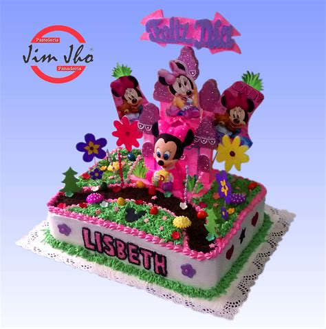 decoracion de tortas con crema de minnie torta minnie mouse pasteler 237 a jimjho