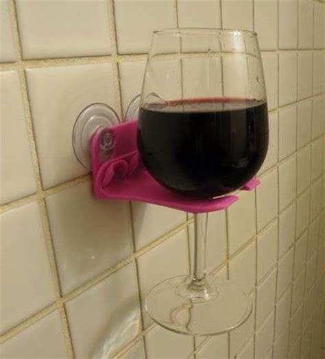 Wine Holder For Shower shower wine glass holder ideas tips and organization