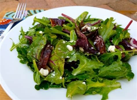 easy salad recipes 14 of our greatest green salad recipes mixed green salad with goat cheese and dates weight
