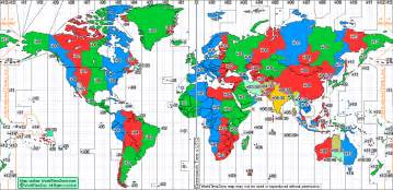 World Timings Standard Time Zone Chart Of The World From World Time Zone
