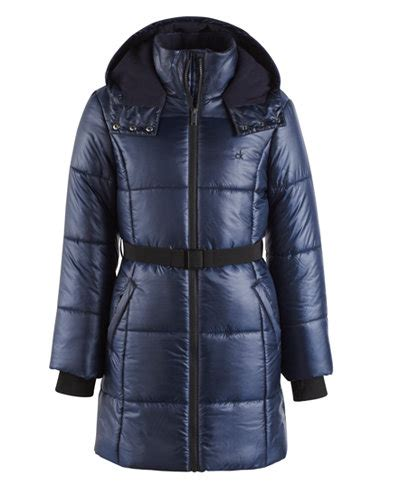 Jaket Baby 5 calvin klein vail hooded belted puffer coat toddler coats jackets baby macy s