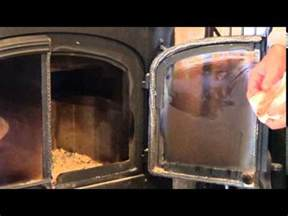 Cleaning The Glass On A Gas Fireplace by How To Clean Fireplace Glass Removing Burnt On Soot From
