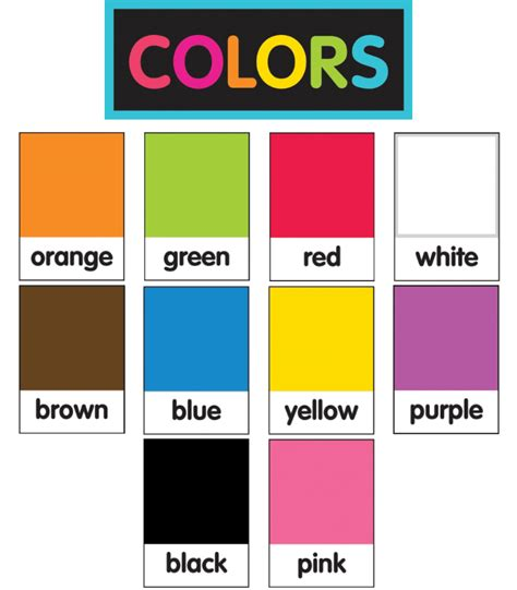 how to teach colors just teach neon color pantone printable cut outs grade pk 2