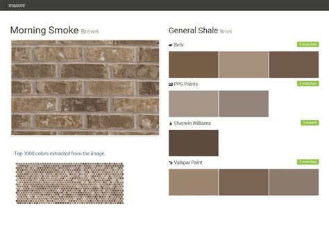 morning smoke brown brick general shale behr ppg paints sherwin williams valspar paint