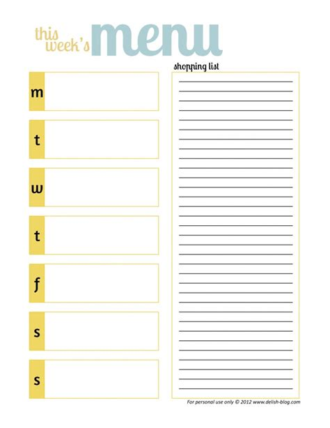 printable meal planner for toddlers meal ideas recipes menu planners weekly menu planners