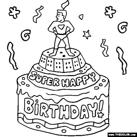 coloring pages of happy birthday cards birthday online coloring pages page 1