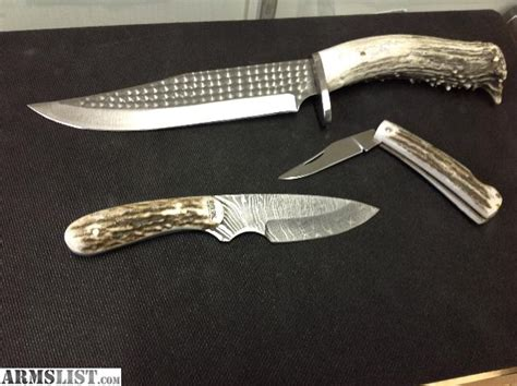 Handmade American Knives - armslist for sale silver stag knives american