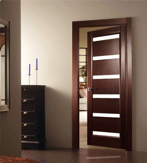 Tokio Glass Interior Door Wenge Finish Modern Home Luxury Modern Interior Doors With Glass
