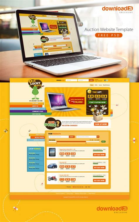 free auction html templates auction website template free psd psd