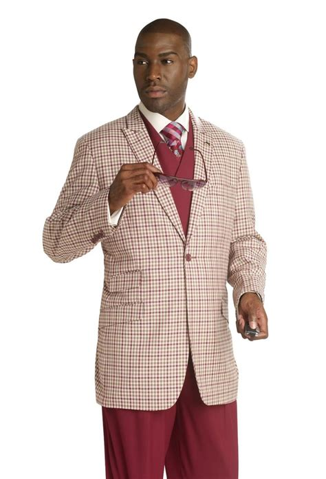 ej samuel burgundy plaid 3 jacket vest fashion