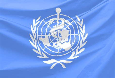 world health organization flag stock illustration