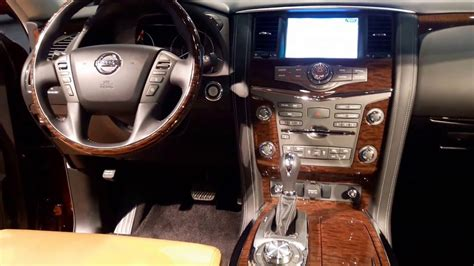 nissan armada 2016 interior 2017 nissan armada platinum interior walkaround 2016