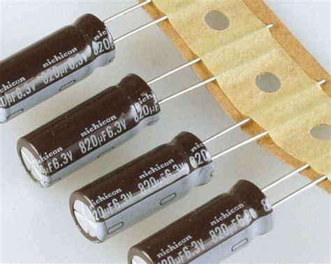 capacitor kzg 6 3v 820uf upmoj821mph1td nichicon capacitor 820uf 6 3v aluminum electrolytic radial high temp 2020024948