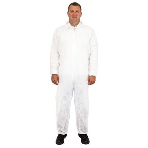 home depot paint jumpsuit the safety zone disposable coverall medium white