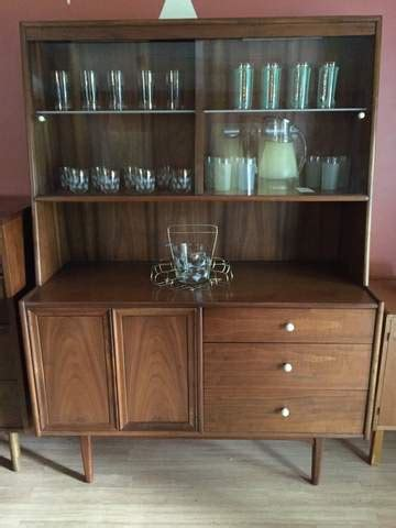 Mid Century China Cabinet, Declaration by Drexel   EPOCH
