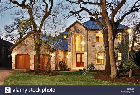 classic american architecture house with two car garage and nurse resume