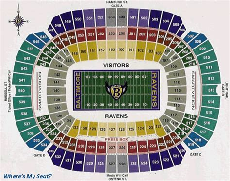 m t bank stadium baltimore md seating chart view