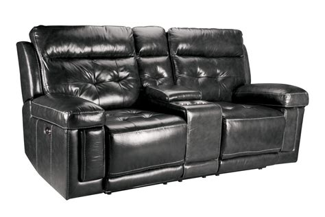 power reclining sofa with console dusty leather power reclining loveseat with console