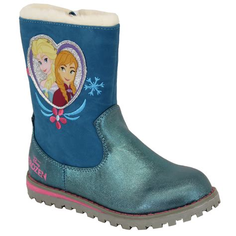 frozen boots snow boots disney frozen elsa high ankle brush