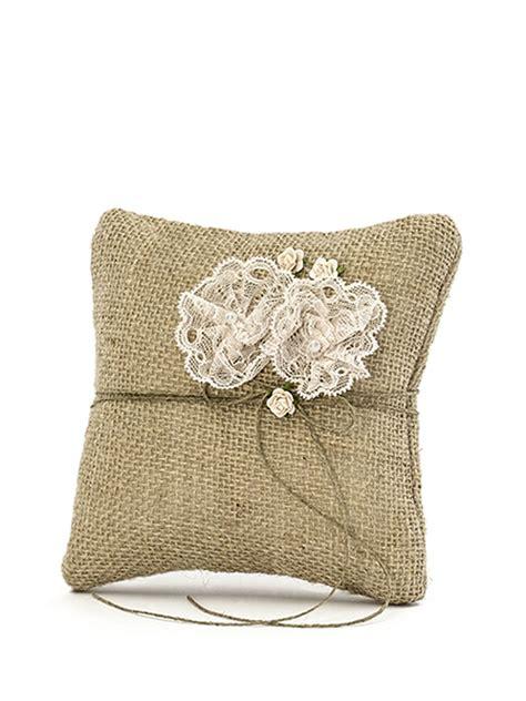 cuscino fedi fiori cuscino per fedi in iuta con fiori su vegaooparty negozio