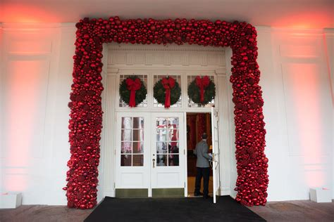 white house curtains for the holidays the obamas open up the white house one