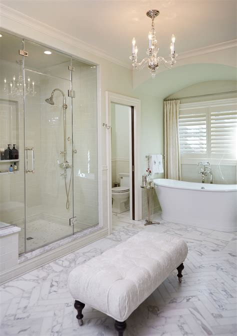 stunning marble bathrooms  silver fixtures