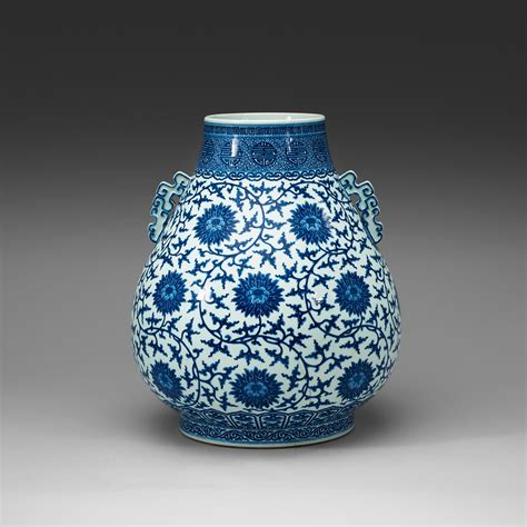 a large blue and white ming style vase hu qing