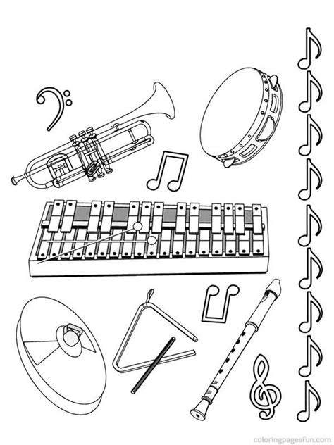 musical instrument coloring book pages musical instruments coloring pages 11 jazz pinterest