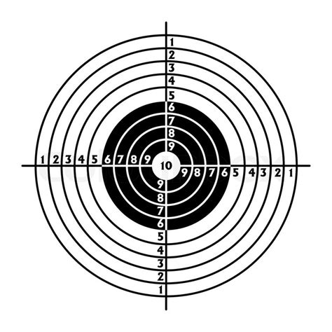 printable targets a4 the target for shooting practice at a shooting range with