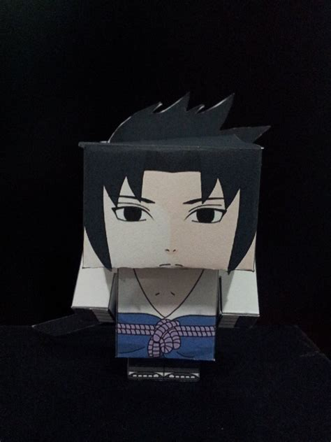 Sasuke Papercraft - sasuke cubeecraft by divinusvento on deviantart
