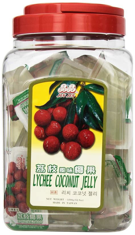 lychee fruit candy amazon com jin jin assorted fruit coconut candy lychee