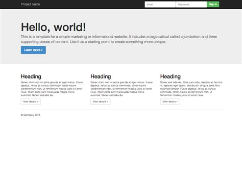 basic templates for bootstrap jade bootstrap