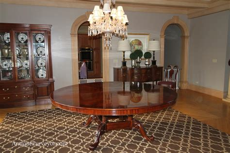 large round dining room table 84 quot high end large round brown mahogany dining table