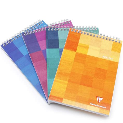 Mood Color Spiral Ruled Notepad clairefontaine classic a4 top spiral bound notepad 8 5 x