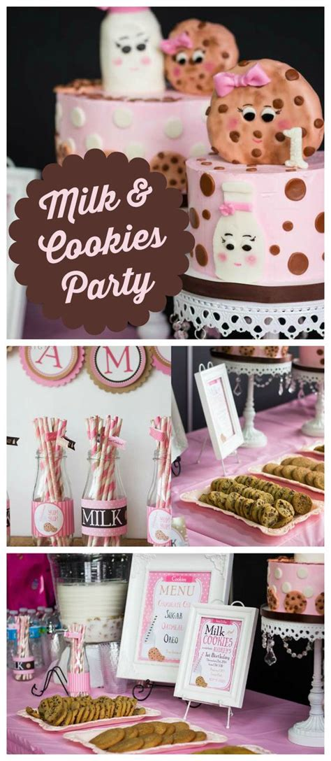 girl milk themes milk and cookies birthday quot aubrey s milk and cookies 1st