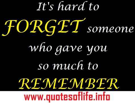 To Remember Someone Quotes