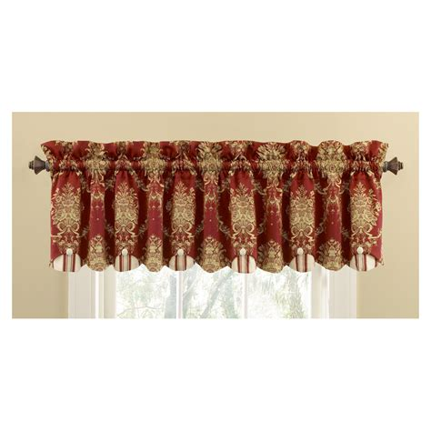 waverly curtains at lowes shop waverly 15 in l merlot home classics box pleat