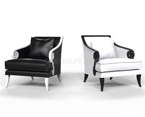black and white armchair black and white leather armchairs stock illustration image