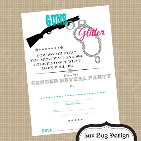 printable gender reveal party invitations invitation