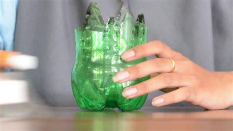 membuat vas bunga cantik  botol bekas youtube