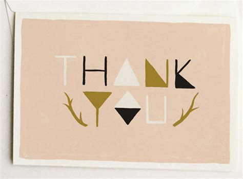 Thank You Letter Design 30 modern thank you cards design milk