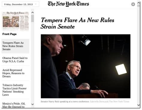 new york times science section tuesday new york times introduces today s paper web app for