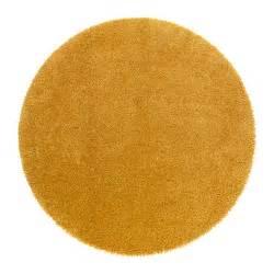 teppich rund gelb 197 dum rug high pile ikea