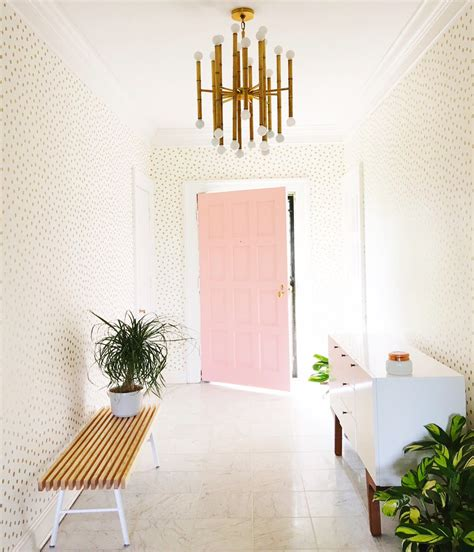 entryway wallpaper 10 chic stylish entryway makeovers the budget decorator