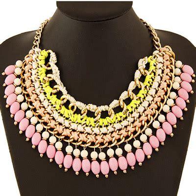 Kalung Fashion Weave Multilayer Design Terbatas celtic pink weave multilayer design asujewelry